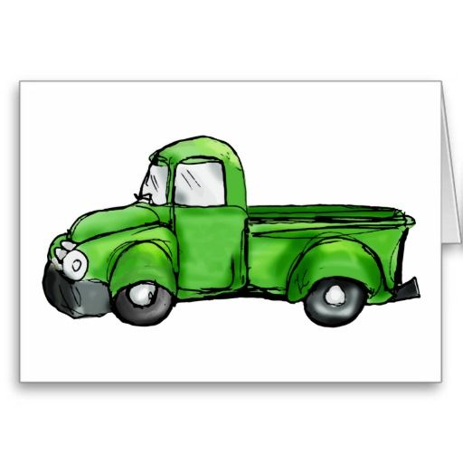 Old Green Pickup Truck Zazzle Com With Images Diesel Trucks
