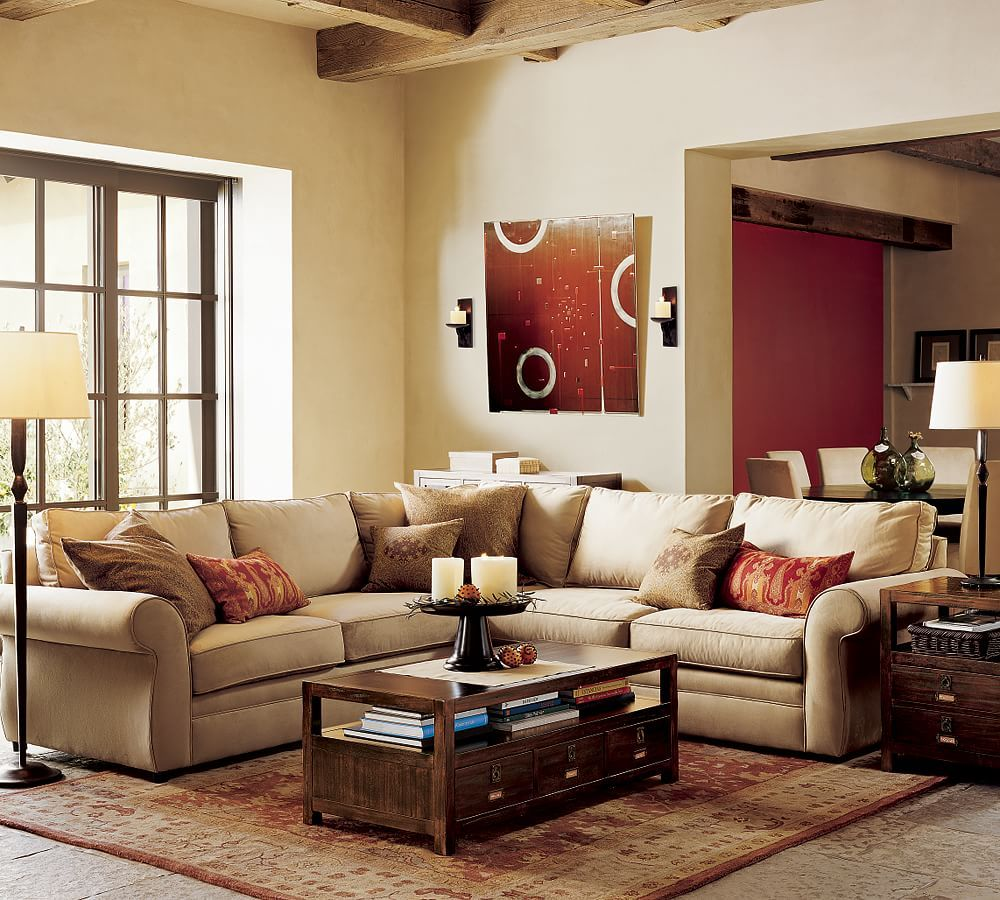 Pearce Roll Arm Upholstered 2 Piece L Shape Sectional In