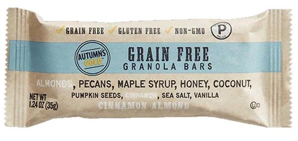 Autumn S Gold Grain Free Granola Bar Cinnamon Almond Grain Free Granola Bars Grain Free Granola Granola Bars