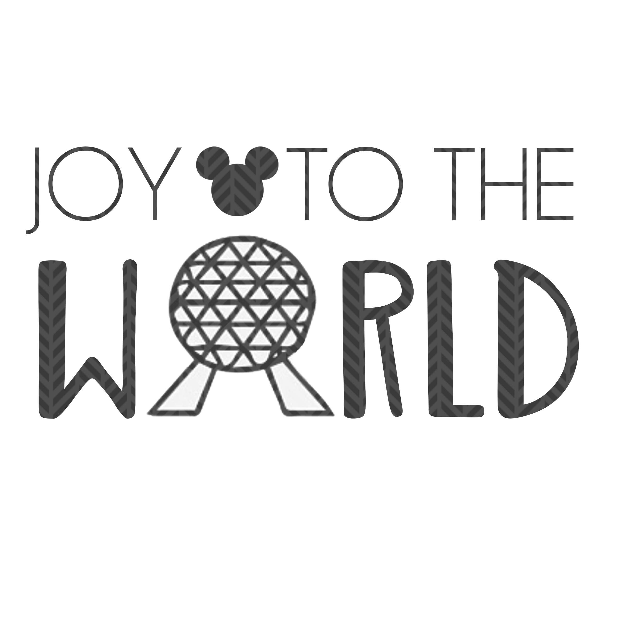 Joy to the world, Epcot Christmas SVG file by