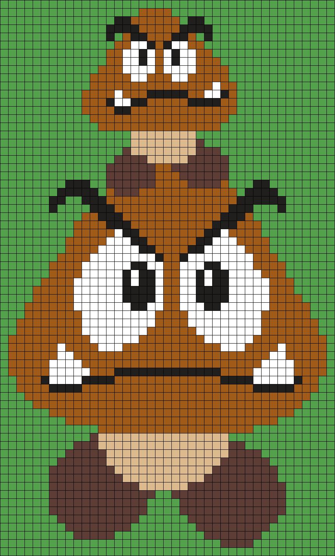 Goombas From Super Mario Bros. Perler Bead Pattern | Bügelperlen ...