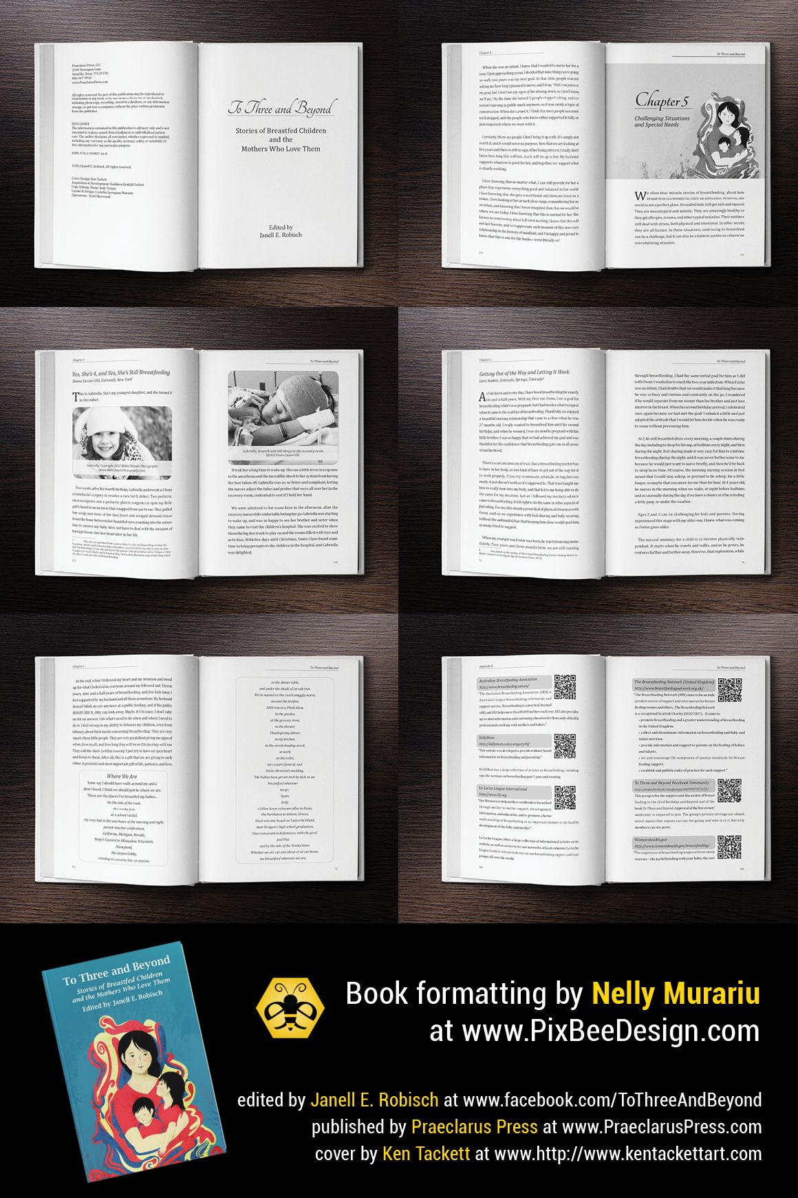 Layout Design And Formatting For An Amazing Book With Stories Of - Breastfeeding brochure templates