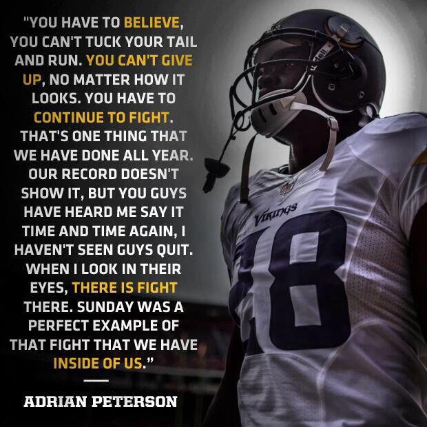 Best Football Quotes: Adrian Peterson Famous Inspirational Quote