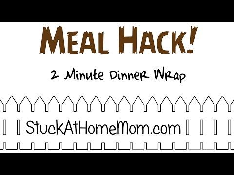 Meal Hack: Two Minute Dinner Wrap Recipe #Yoplait #ad - @stuckathomemom