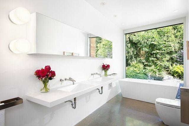 ideen-für-badezimmerfliesen-Boden-puristisch-elegant-weiße-Wände - ideen f r badezimmer fliesen