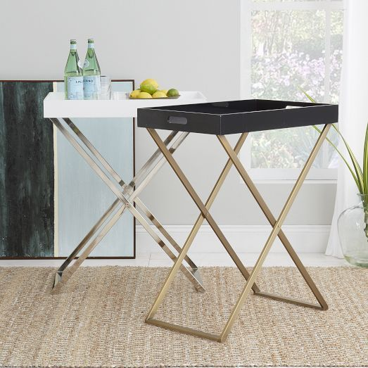 Charming Love This As An Inexpensive Bar Cart   Tall Butler Tray Stand | West Elm