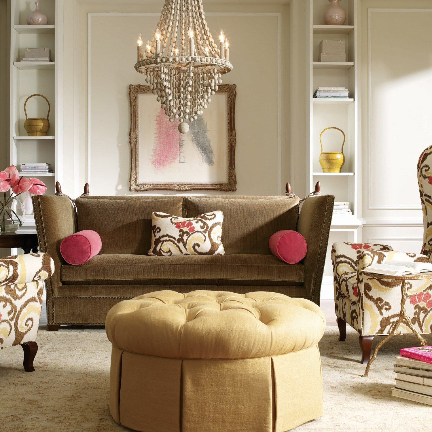 Eclectic Living Room Furniture: Canterbury Knole Sofa.