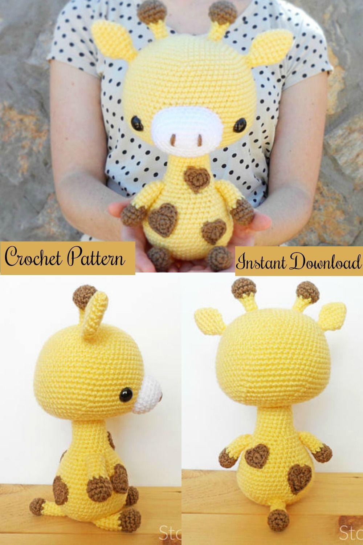 Cuddle-Sized Giraffe Amigurumi, Crocheted Giraffe Pattern, Giraffe ...