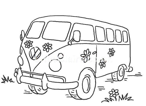 kleurplaat volkswagen busje kleurplaten dieren