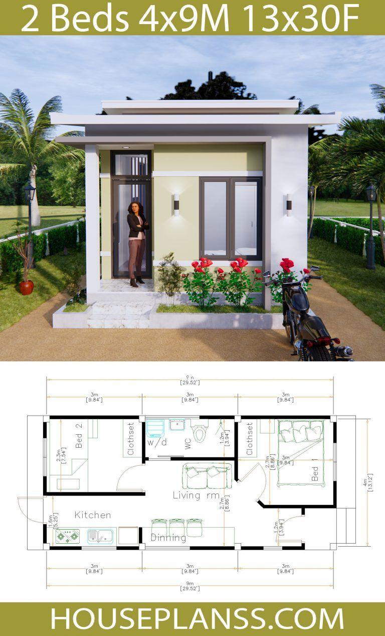 Simple House Plans 4x9 Meters 36sq M House Plans 3d House Plans My House Plans Model House Plan