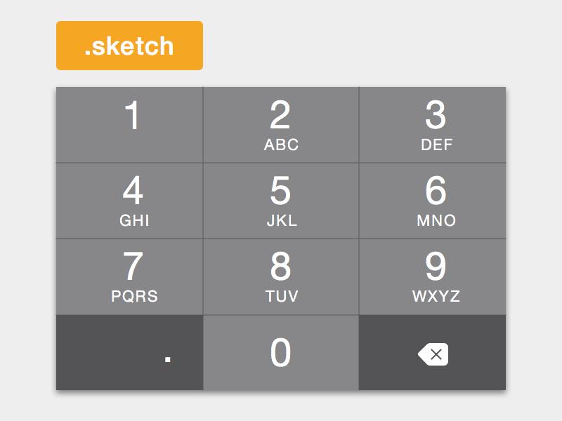 Numeric keyboard iphone