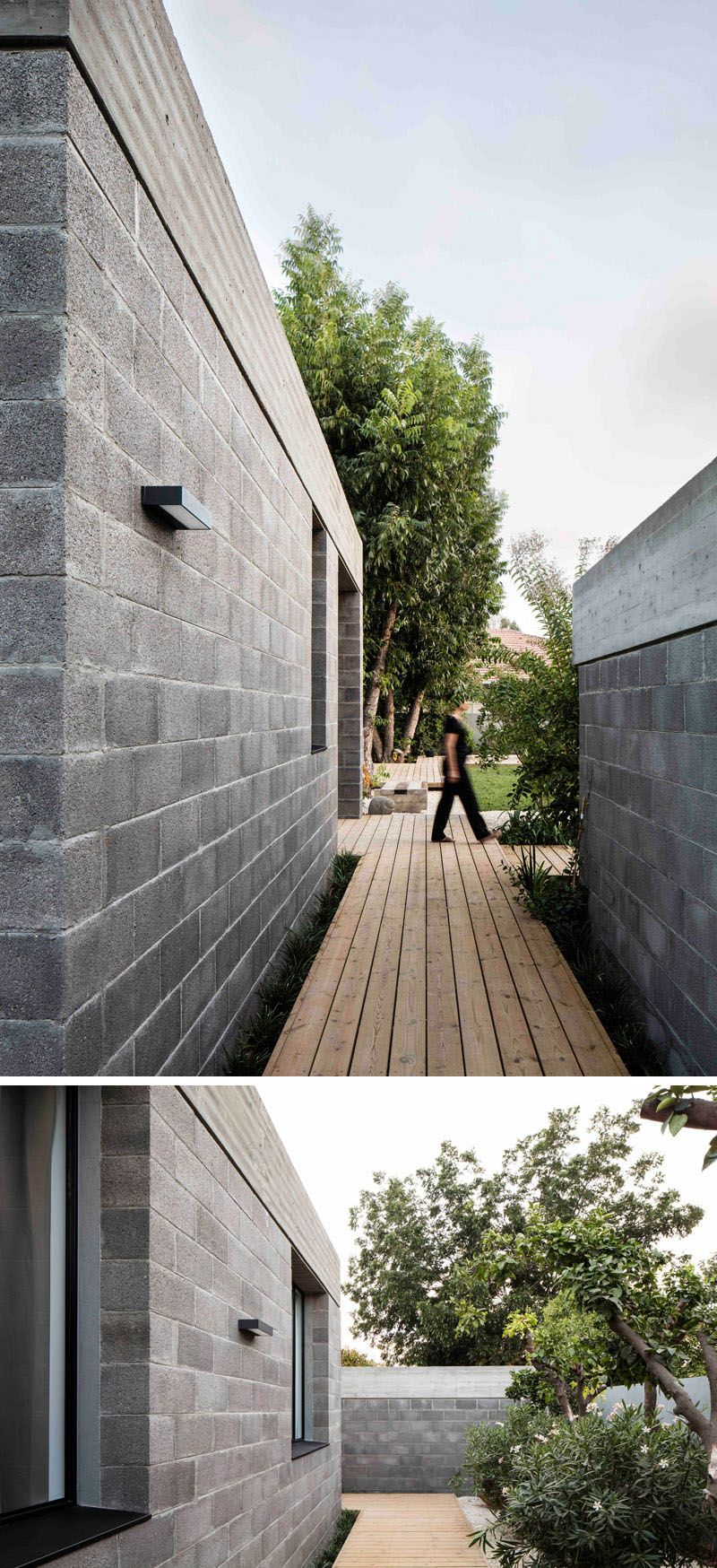 Unfinished Concrete Gives This House An Industrial Feeling Concrete Houses Architect House Cinder Block House