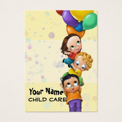 Day Care Child Care Babysitting Promo Card