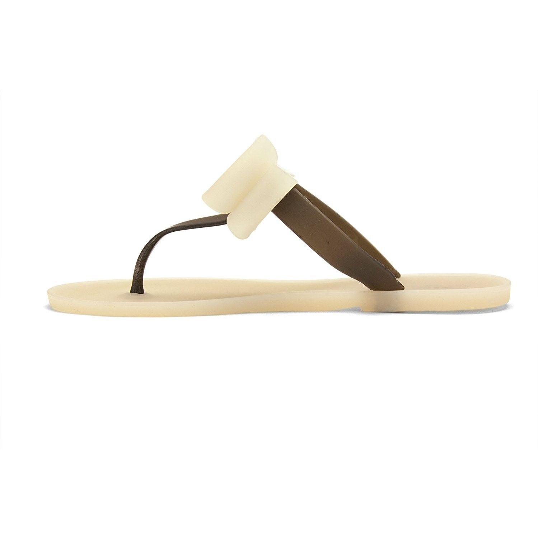 5d90a624a0bcf6 GINA Women s Shoes Flat Flip Flops Slip on Sandals - Brown ...