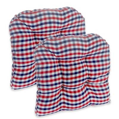 Product Image For Klear Vu Gripper 174 Gingham Chair Pads In