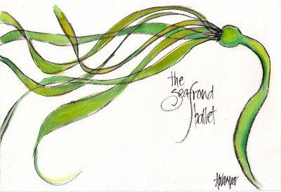 seafrond-ballet  painted in Noyo Harbor near Fort Bragg, CA Annette Wagner Art annettewagnerart.com
