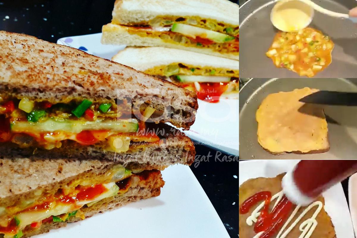 Roti Telur Berempah Ala Roti John Super Mudah Untuk Sarapan Anda Rasa Roti Food Receipes Cooking Recipes