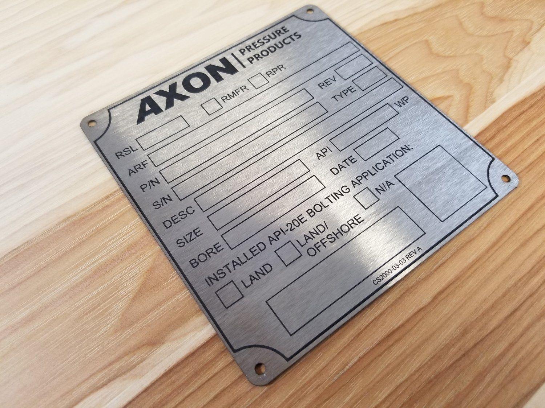 Laser Engraved Stainless Steel Plate Engraved Metal