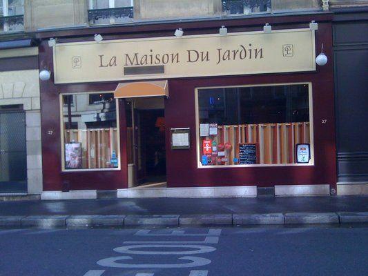 La Maison du Jardin: a small, classy bistro with formal ...