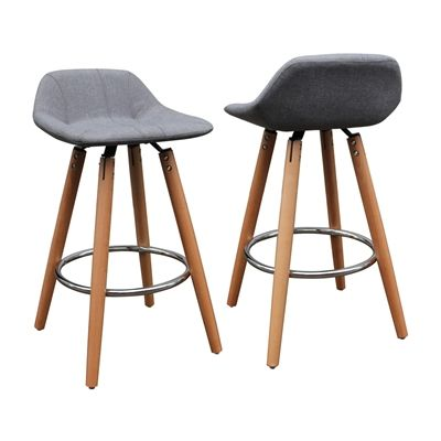 Worldwide Home Furnishings 203 989gy Nspire Low Back Counter Stool