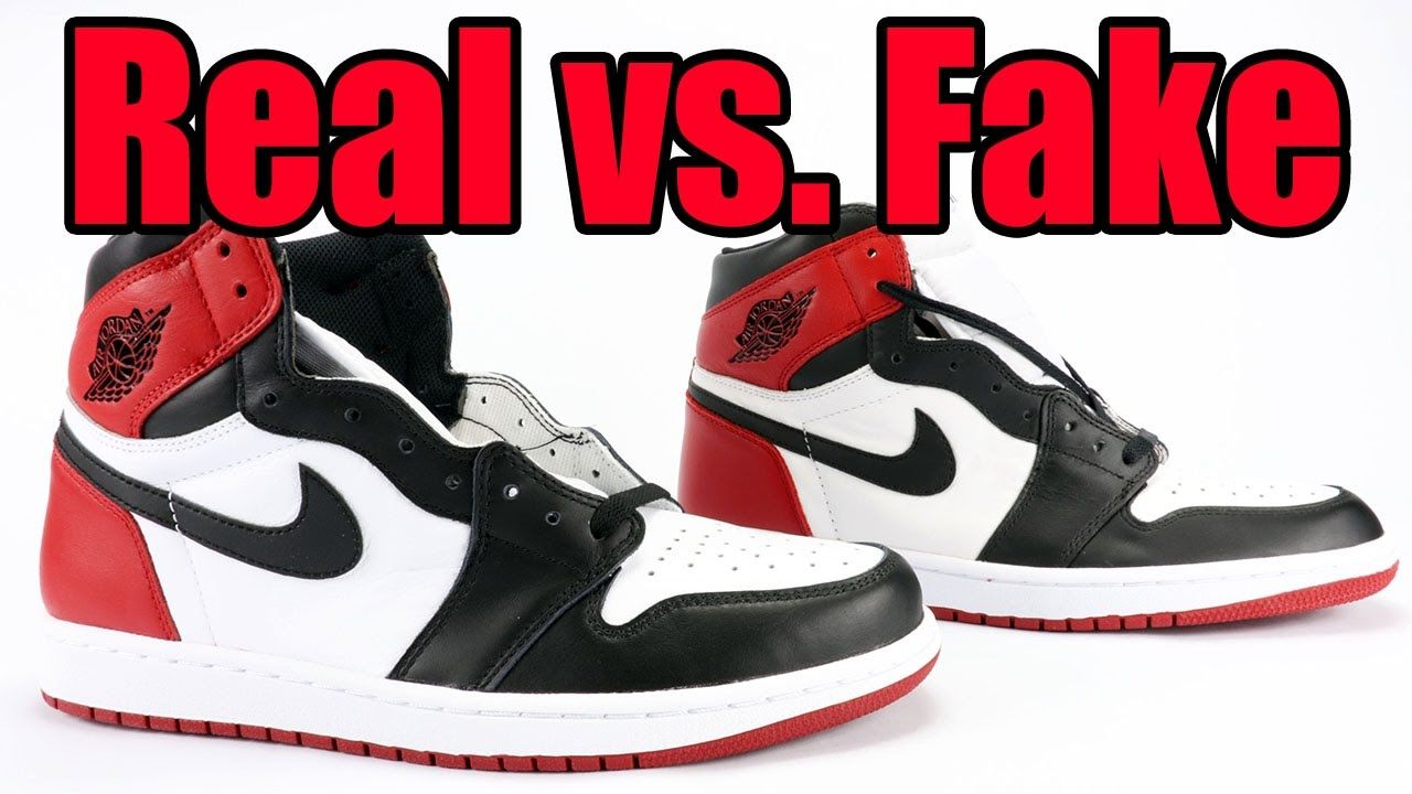 11aa7e41251 Real vs. Fake Air Jordan 1 Black Toe (Legit Check) | Nike Sneakers ...