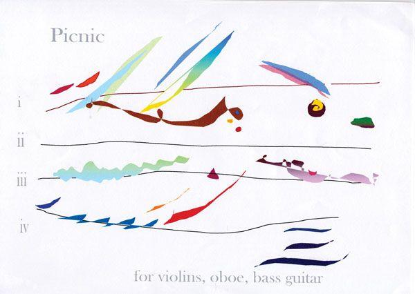 Cilla Mc Queen Graphic Score Picnic For Violins Oboe And Bass