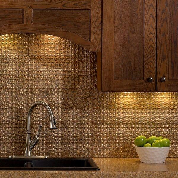 fasade terrain cracked copper 18 in x 24 in backsplash panel rh pinterest co uk