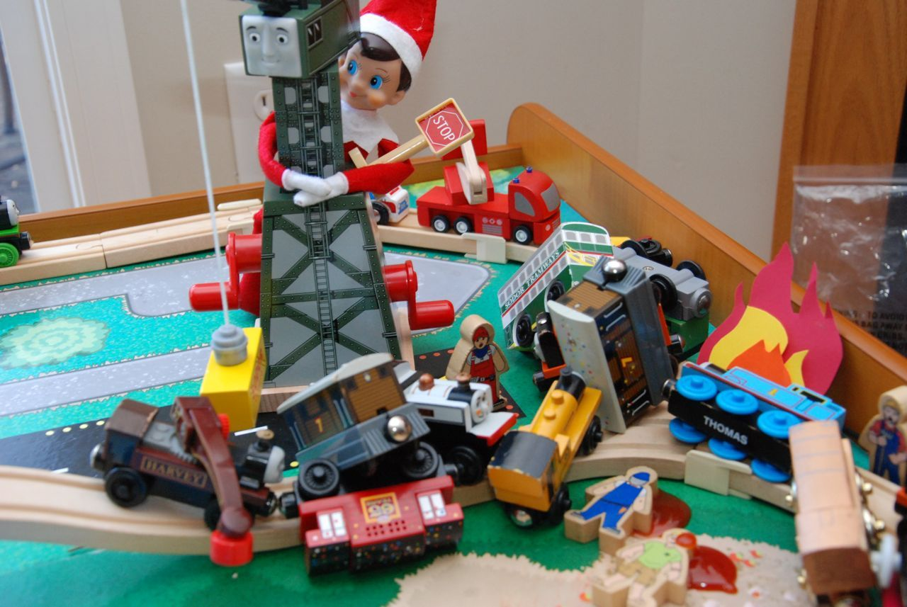 Disaster!!! elf on the shelf