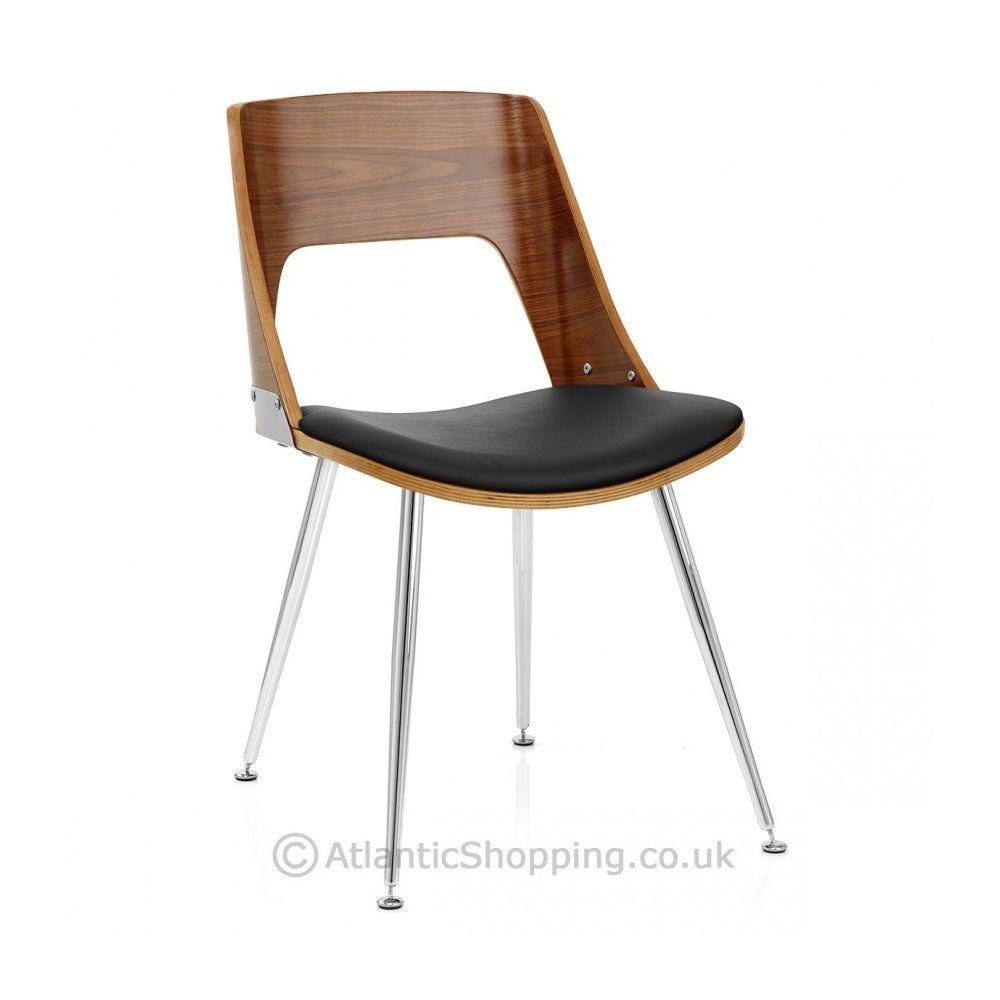 chaise bois cuir karma noyer monde