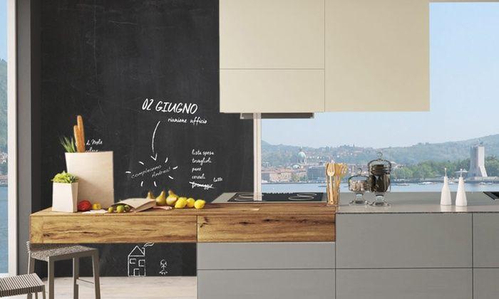 Pittura lavagna magnetica fai da te con una parete lavagna in casa
