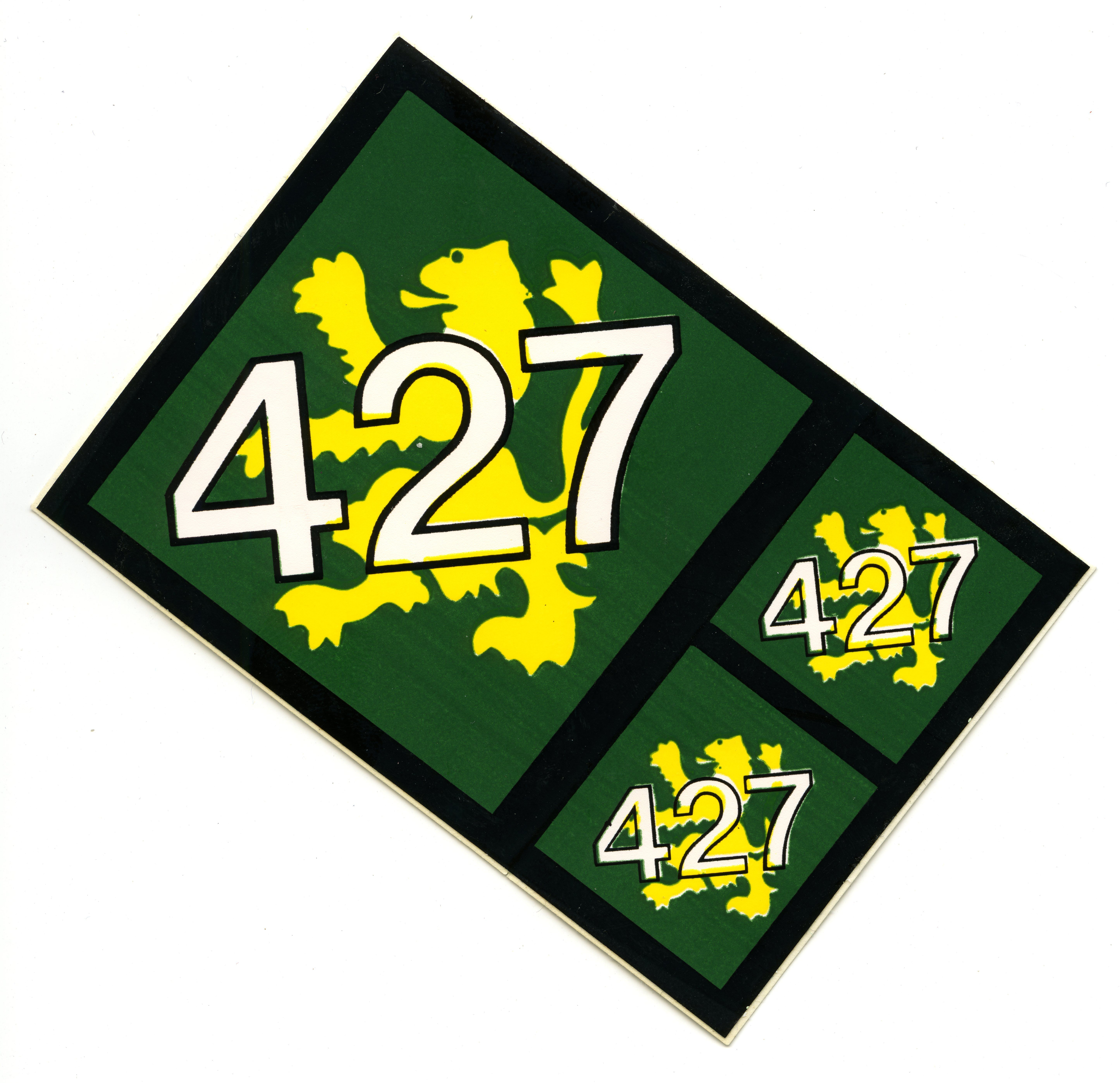 RCAF 427 Squadron Sticker Novelty, Novelty sign