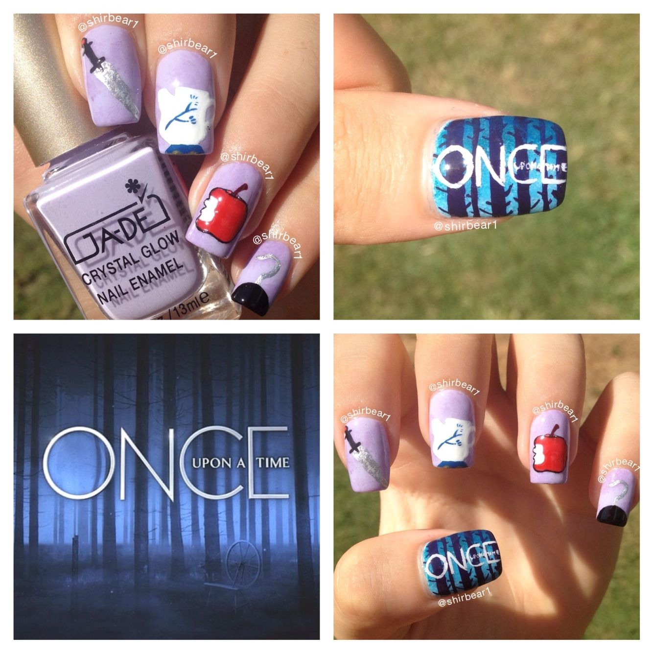 Once Upon a Time nail art, for more nail arts go follow me ...