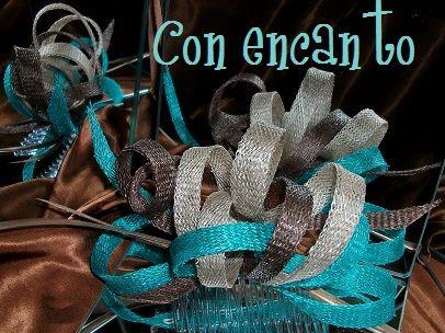 Garabato en verde y dos tonos de marrón www.facebook.com/ConEncantoBilbao  Sinamay doodle headpiece