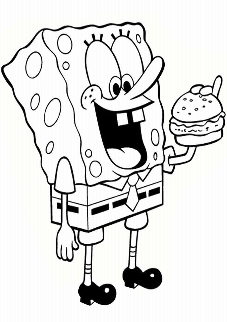 Kolorowanki Spongebob Do Druku Malowanki 21 Jpg 794 1123