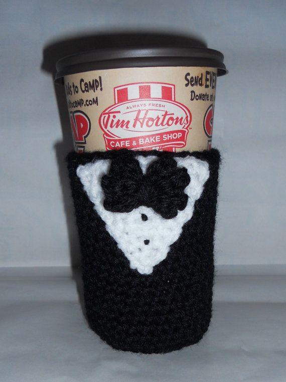 007 Coffee Cup Sleeve | Emily\'s Hook Nook | Pinterest | Tejido