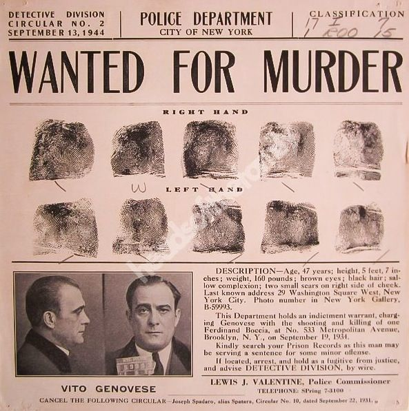 NYPD wanted poster Mafia, Mobs, \ Mayhem Pinterest Mobsters - criminal wanted poster