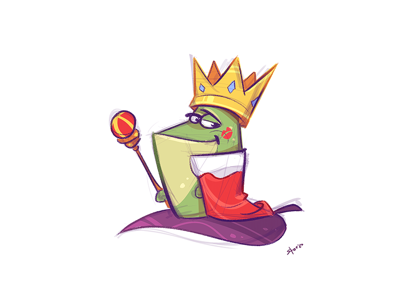 The King by spovv on Dribbble in 2020