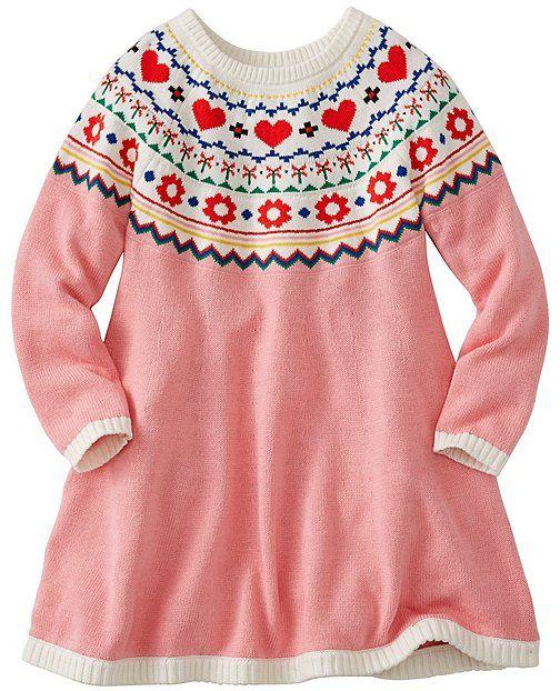 Girls Fairest Isle Sweater Dress from #HannaAndersson ...