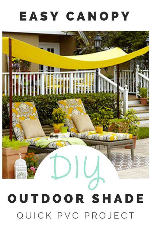 DIY Backyard Canopy  sc 1 st  Pinterest & DIY Backyard Canopy | Shade canopy Canopy and Backyard