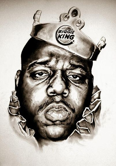Notorious painting paper print 18x12