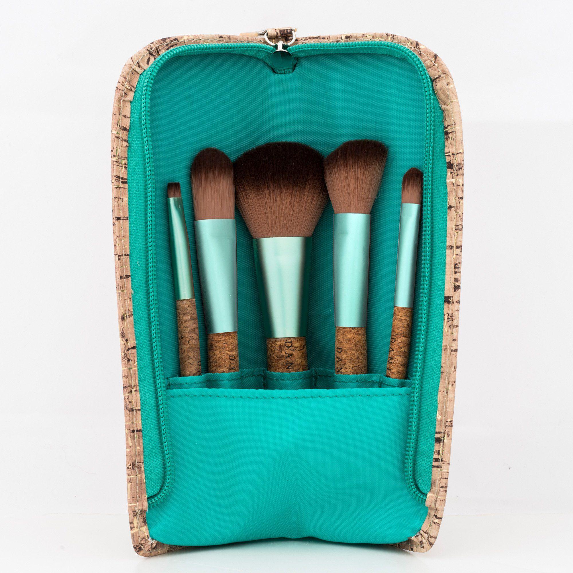 Danielle Creations 6Piece Cork Brush Set, Seafoam Green