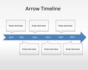 arrow timeline powerpoint template is a free ppt template with a