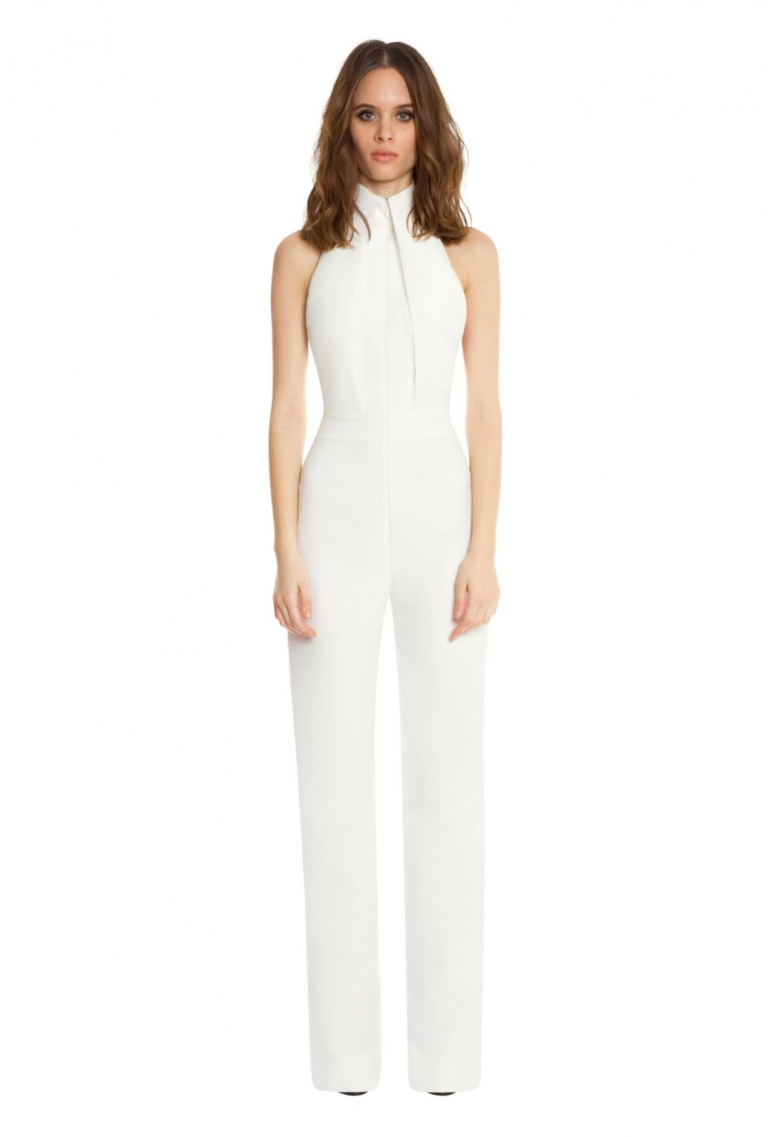40a6a068664 Hero Halterneck Backless Jumpsuit · White · AQ AQ