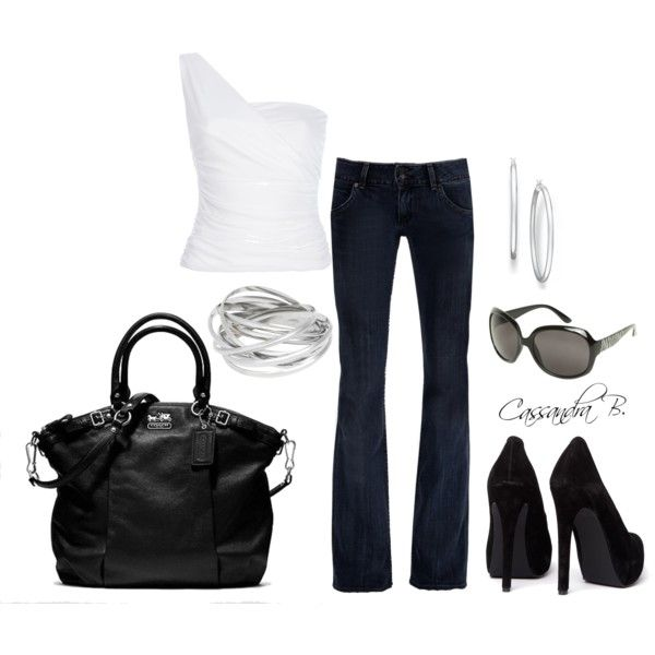 Black & White III, created by cbrzozo13 on Polyvore