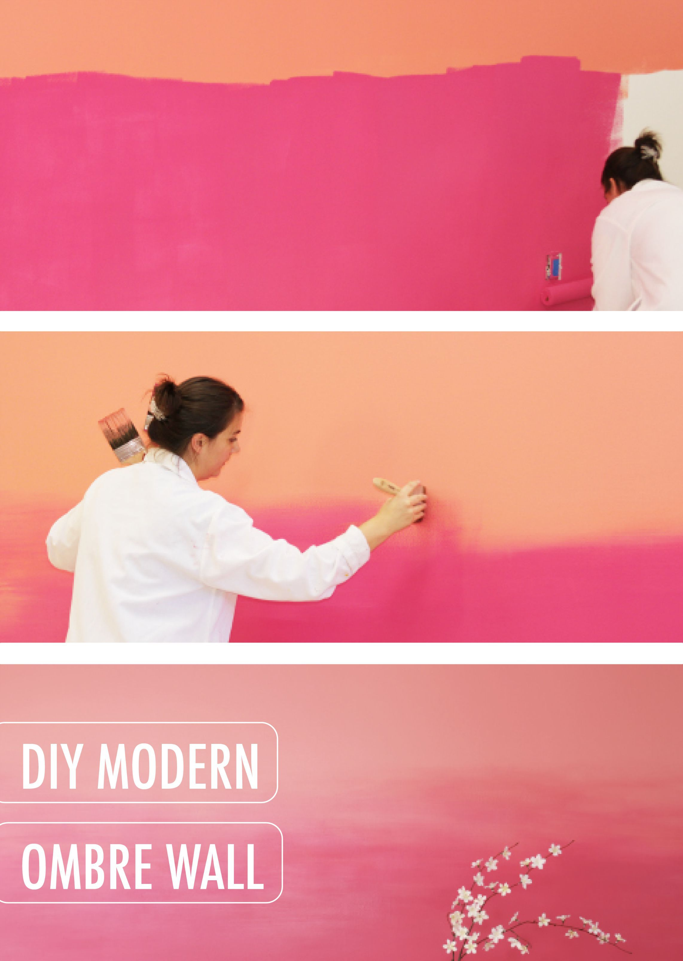 This Modern Pink Pagoda And Coral Coralette DIY Modern Ombre Wall Project  By BEHR Will Show You, Step By Step, How To Create The Perfect Gradient  With Your ...