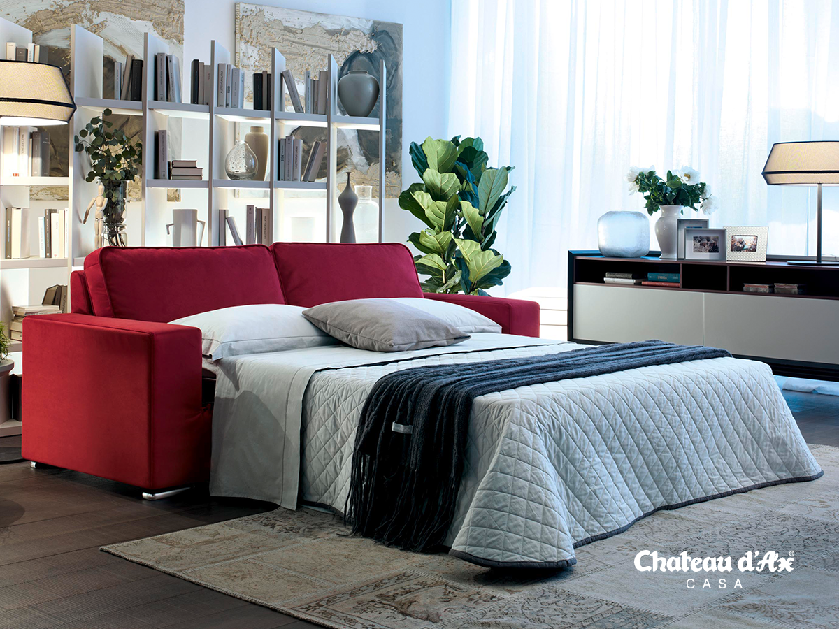 Divano letto rosso pop soluzioni intelligenti pinterest letti rossi divano letto e divano - Divano letto rosso ...