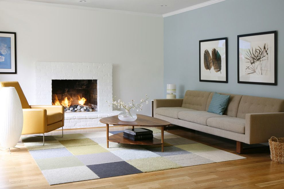 Mid Century Modern Living Room With Fireplace top 10 contemporary rugs | mid-century modern, modern coffee