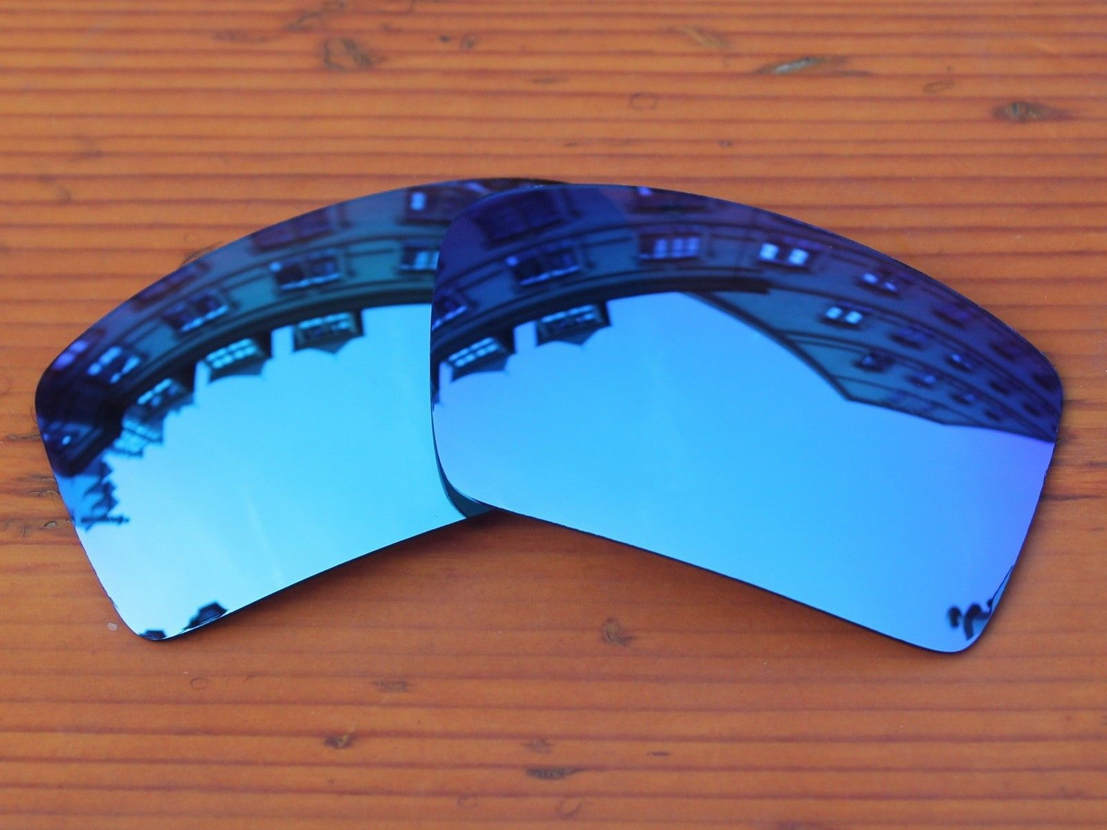 3720714a6b Ice Blue Mirror Polycarbonate Replacement Lenses For-Oakley Eyepatch 1  2
