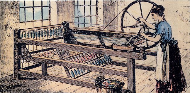Spinning Jenny Invented By James Hargreaves In 1784 Industrial