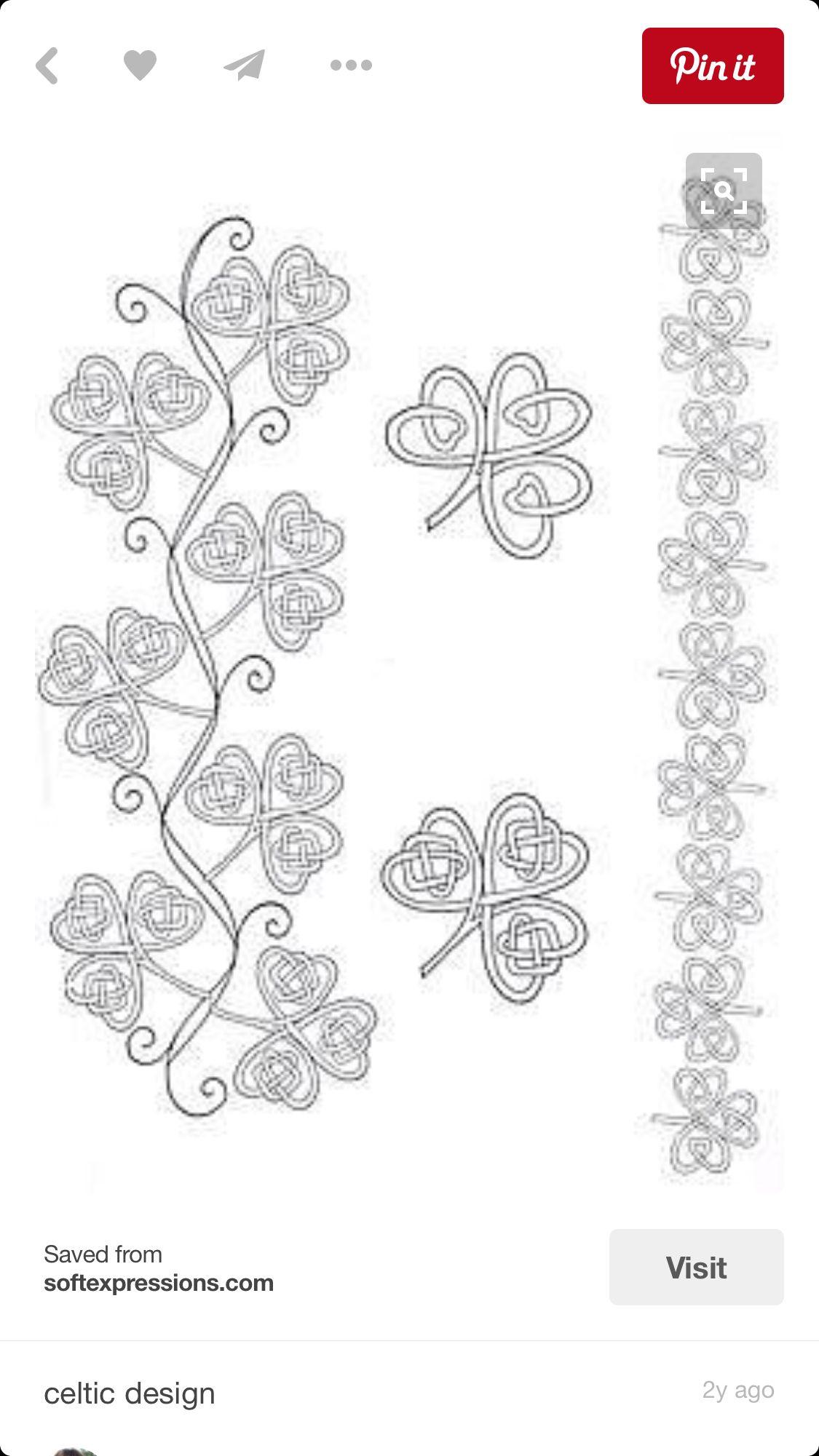 Irish shamrock tattoo designs | tattoos | Pinterest | Celta, Nudos ...